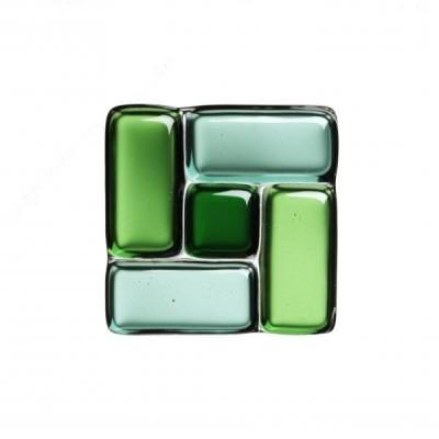 Sticlă fusionată 60mm x 60mm patrat verde