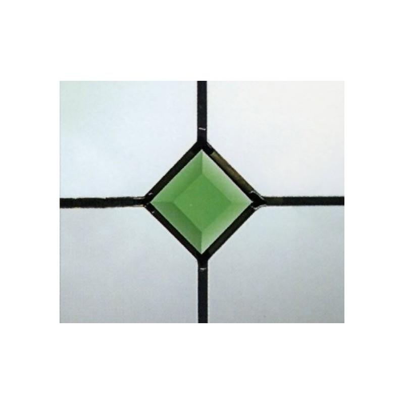 Green Bevel Patrat