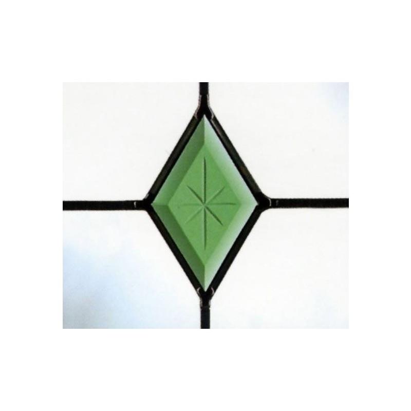 Green Diamond Polished Brilliant crestat